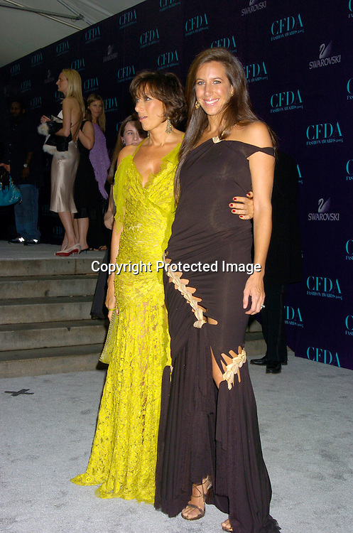 Donna Karan and daughter Gabby..at the  2004 CFDA Fashion Awards on June 7, 2004 at ..The New York Public Library.                                           Photo by Robin Platzer, Twin Images