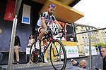 Simon Geschke (GER) Team Sunweb at sign on in Dusseldorf before the start of Stage 2 of the 104th edition of the Tour de France 2017, running 203.5km from Dusseldorf, Germany to Liege, Belgium. 2nd July 2017.<br /> Picture: Eoin Clarke | Cyclefile<br /> <br /> <br /> All photos usage must carry mandatory copyright credit (&copy; Cyclefile | Eoin Clarke)