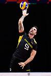 13.09.2019, Paleis 12, BrŸssel / Bruessel<br />Volleyball, Europameisterschaft, Deutschland (GER) vs. Serbien (SRB)<br /><br />Aufschlag / Service Georg Grozer (#9 GER)<br /><br />  Foto © nordphoto / Kurth
