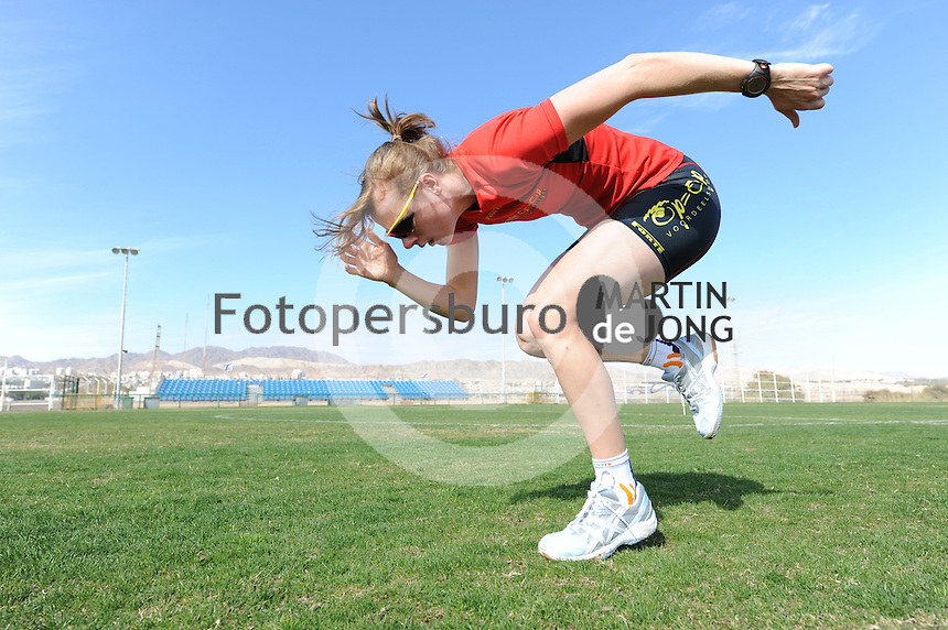 SCHAATSEN: EILAT (ISR): Trainingskamp Team Op=Op Voordeelshop, 17-01-2012, Marije Joling, ©foto Martin de Jong