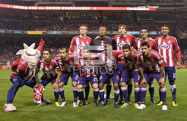 CD Chivas USA starting eleven.  Chivas USA and CD Chivas de Guadalajara played to 0-0 draw at Petco Park stadium in San Diego, California on Tuesday September 14, 2010.