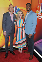 NEW YORK, NY - MAY 09: Paul Blackthorne, Harriet Dyer and Justin Cornwell  attends the 2019/2020 NBC Upfront presentation at the    Fourr Seasons Hotel on May 13, 2019in New York City.  <br /> CAP/MPI/JP<br /> ©JP/MPI/Capital Pictures