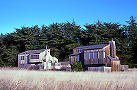 Charles Moore: Sea Ranch houses on Leeward Rd. Conforming to Sea Ranch style.  Photo '83.