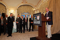 Mayor of the City of New York, Michael R. Bloomberg during a reception for members of the FIFA World Cup Inspection Delegation at the St. Regis Hotel in New York, NY, on September 06, 2010.