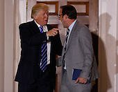 Chicago Cubs owner Todd Ricketts, leaves the clubhouse of Trump International Golf Club, after meeting with United States President-elect Donald Trump (L) and Vice President-elect Mike Pence, November 19, 2016 in Bedminster Township, New Jersey. <br /> Credit: Aude Guerrucci / Pool via CNP