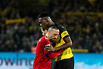 10.11.2018, Signal Iduna Park, Dortmund, GER, 1.FBL, Borussia Dortmund vs FC Bayern M&uuml;nchen, DFL REGULATIONS PROHIBIT ANY USE OF PHOTOGRAPHS AS IMAGE SEQUENCES AND/OR QUASI-VIDEO<br /> <br /> im Bild | picture shows:<br /> Franck Ribery (Bayern #7) gratuliert Dan-Axel Zagadou (Borussia Dortmund #2) zum Sieg, <br /> <br /> Foto &copy; nordphoto / Rauch