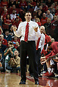 November 8, 2013: Head coach Tim Miles of the Nebraska Cornhuskers sending a play in after the game at the Pinnacle Bank Areana, Lincoln, NE. Nebraska defeated Florida Gulf Coast 79 to 55.