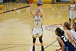 02/08/13--Milwaukie Mustangs senior Alexis Noren (2) shoots her 13th point against Liberty Falcons at Milwaukie High School..Photo by Jaime Valdez..