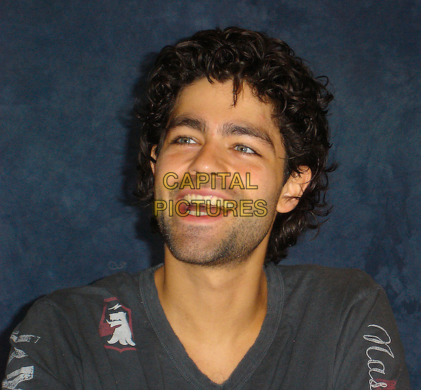 "ADRIAN GRENIER.Photocall for ""Entourage"".September 2006.Ref: AW.headshot portrait mouth open stubble.www.capitalpictures.com.sales@capitalpictures.com.©Anita Weber/Capital Pictures."