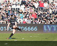 Ospreys' Dan Biggar misses a last chance penalty kick<br /> <br /> Photographer Simon King/CameraSport<br /> <br /> Guinness PRO12 Round 19 - Ospreys v Leinster Rugby - Saturday 8th April 2017 - Liberty Stadium - Swansea<br /> <br /> World Copyright &copy; 2017 CameraSport. All rights reserved. 43 Linden Ave. Countesthorpe. Leicester. England. LE8 5PG - Tel: +44 (0) 116 277 4147 - admin@camerasport.com - www.camerasport.com