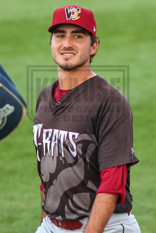 BELOIT - September 2014: Javier Salas (16) of the Wisconsin Timber Rattlers during a game against the Beloit Snappers on September 1st, 2014 at Pohlman Field in Beloit, Wisconsin.  (Photo Credit: Brad Krause)