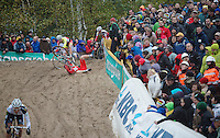 Superprestige Zonhoven 2013<br /> <br /> Julien Taramarcaz (CHE) crashes into The Pit
