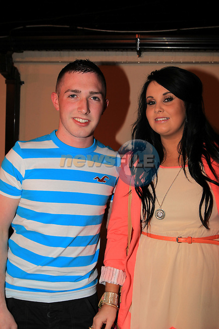 Cormac Meegan and Aleesha Flood McHughs Ents..Picture Fran Caffrey www.newsfile.ie..