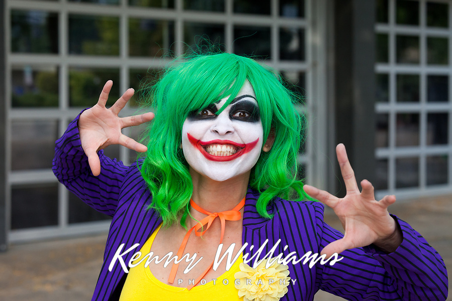 The Joker Cosplay by Luna Lyrik, Renton City Comicon 2017, Washington, USA.