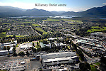 An aerial photo of Killarney Town with the Killarney Outlet centre and The Malton Hotel in the foreground. In background is Lough Lein looking South with Torc and Mangerton Mountains on Left and The Purple mountain on  right.<br /> Picture by Don MacMonagle