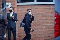 27th June 2020; Carrow Road, Norwich, England; FA Cup 6th round tie, Norwich City versus Manchester united; Teams arriving at the stadium pre-match;  Max Aarons arriving at Carrow Road