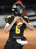 NWA Democrat-Gazette/ANDY SHUPE<br /> Sam Dodd of Prairie Grove looks to pass against Star City Friday, Nov. 27, 2015, during the first half of play at Tiger Stadium in Prairie Grove. Visit nwadg.com/photos to see more photographs from the game.