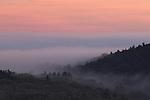 Foggy sunrise in New Salem, MA.