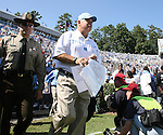 02 September 2006: UNC head coach John Bunting before the game. The University of North Carolina Tarheels lost 21-16 to the Rutgers Scarlett Knights at Kenan Stadium in Chapel Hill, North Carolina in an NCAA Division I College Football game.