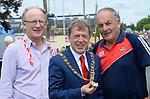 2-7-2017: Ned Kirby, Cork Lord Mayor Tony Fitzgerald and Sean Martin pictured at the Kerry V Cork Munster Football final in Killarney on Sunday.<br /> Photo: Don MacMonagle<br /> <br /> vox pop majella o'sullivan