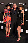 Photographer Mario Testino (C) attends with Vogue´s director and Nieves Alvarez (R) III Vogue Who´s on next Awards at Italy Emabssy in Madrid, Spain. Photographer Mario Testino awarded as World´s Best Photographer. June 17, 2014. (ALTERPHOTOS/Victor Blanco)