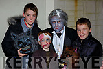 Enjoying the Knocknagoshel Halloween Festival on Sunday night were l-r: Cathal McElligott, John Healy, Pat Healy and Jack McElligott Knocknagoshel