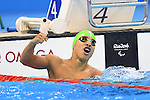 Serrano Zarate Carlos (COL), <br /> SEPTEMBER 10, 2016 - Swimming : <br /> Men's 100m Breaststroke SB7 Final  <br /> at Olympic Aquatics Stadium<br /> during the Rio 2016 Paralympic Games in Rio de Janeiro, Brazil.<br /> (Photo by AFLO SPORT)