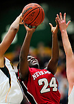 4 January 2010: University of Nebraska Cornhuskers' guard Dominique Kelley, a Junior from Lincoln, Nebraska, in action against the University of Vermont Catamounts at Patrick Gymnasium in Burlington, Vermont. The Huskers, finishing off their first perfect non-conference season in school history, improved to 13-0 with the 94-50 win over the Lady Cats. Mandatory Credit: Ed Wolfstein Photo