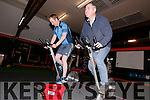 Patrick Brosnan and Aidan Gillespie (Annascaul Adventures) during the 12 hour Spinathon at West Kerry Fitness, Dingle, to raise funds and awareness for Cycle against Suicide and Cuan Counseling.
