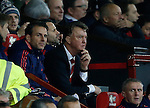 Louis van Gaal manager of Manchester United looks out from the bench - English Premier League - Manchester Utd vs Chelsea - Old Trafford Stadium - Manchester - England - 28th December 2015 - Picture Simon Bellis/Sportimage