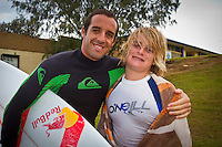 D-Bah, Queensland, Australia (Wednesday February 23rd 2011). .The Annual World Pro Surfers (WPS) Surf with the Pros was held this afternoon at D-bah Beach. The likes of 10 times World Surfing Champion Kelly Slater (USA), Brett Simpson (USA), Michel Bourez (PYF), Tiago Pires (PRT), Kia Otten (AUS), Adrian Buchan (AUS) and Bede Durbidge (AUS) were joined by dozens of local grommets for a surf session, a sausage sizzle and a chance to chat and get autographs..Photo: joliphotos.com