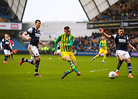 9th February 2020; The Den, London, England; English Championship Football, Millwall versus West Bromwich Albion; Hal Robson-Kanu of West Bromwich Albion takes a shot on goal