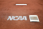 4 JUNE 2016: The untouched mound and NCAA logo spray painted on the mound during the Division II Men's Baseball Championship between Millersville University and Nova Southeastern University at the USA Baseball National Training Complex in Cary, NC.  Nova Southeastern University defeated Millersville University 8-6 to win the national title. Grant Halverson/NCAA Photos