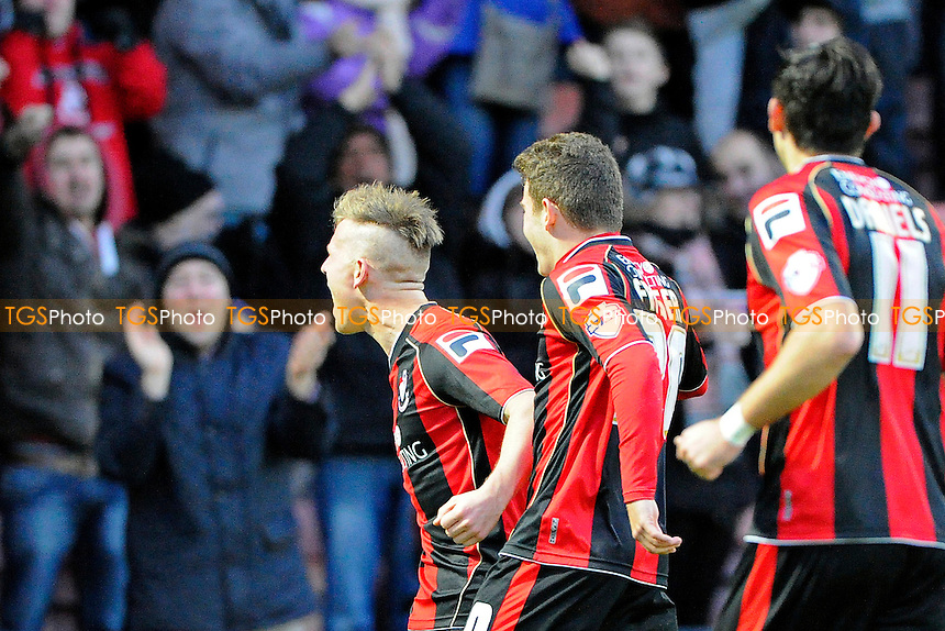Matt Ritchie of AFC Bournemouth celebrates his second goal - AFC Bournemouth vs Yeovil Town - Sky Bet Championship Football at the Goldsands Stadium, Bournemouth, Dorset - 26/12/13 - MANDATORY CREDIT: Denis Murphy/TGSPHOTO - Self billing applies where appropriate - 0845 094 6026 - contact@tgsphoto.co.uk - NO UNPAID USE