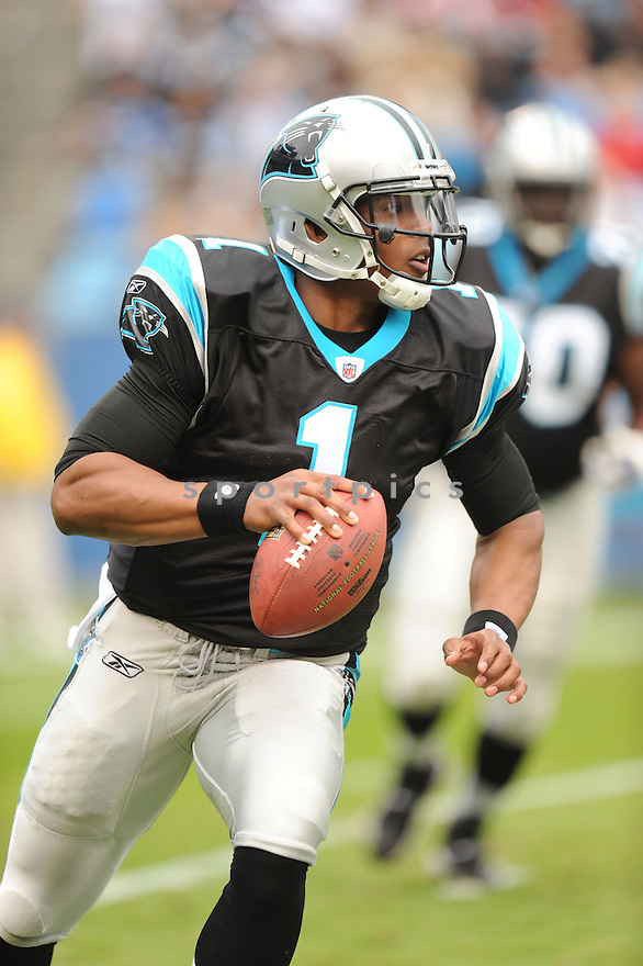 CAM NEWTON, of the Carolina Panthers, in action during the Panthers game against the Tennessee Titans on November 13, 2011 at Bank of America Stadium in Charlotte, NC. The Titans beat the Panthers 30-3.
