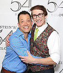 John Tartaglia  and Rick Lyon backstage at the 'Avenue Q' 15th Anniversary Reunion Concert at Feinstein's/54 Below on July 30, 2018 in New York City.