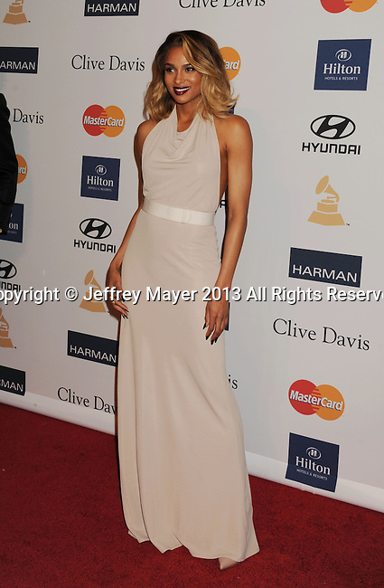BEVERLY HILLS, CA - FEBRUARY 09: Ciara arrives at the The 55th Annual GRAMMY Awards - Pre-GRAMMY Gala And Salute To Industry Icons Honoring L.A. Reid at the Beverly Hilton Hotel on February 9, 2013 in Beverly Hills, California.