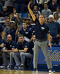 Nevada head coach Eric Musselman calls out a play against Akron in the second half of an NCAA college basketball game in Reno, Nev., Saturday, Dec. 22, 2018. (AP Photo/Tom R. Smedes)