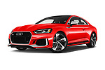 Stock pictures of low aggressive front three quarter view of a 2018 Audi RS5 4WD 2 Door Coupe