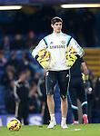 Chelsea's Thibaut Courtois warms up<br /> <br /> Barclays Premier League- Chelsea vs Everton  - Stamford Bridge - England - 11th February 2015 - Picture David Klein/Sportimage