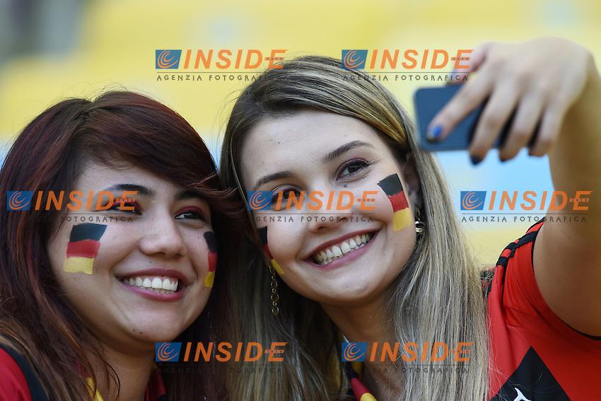Tifosi supporters Germany<br /> Rio de Janeiro (Brasile) 04-07-2014 Maracana Quarter-Finals / Quarti di finale France - Germany / Francia - Germania. Football 2014 Fifa World Cup Brazil - Campionato del Mondo di Calcio  Brasile 2014 <br /> Foto Insidefoto
