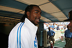 06 October 2007: UNC football alum Jesse Holly. The University of North Carolina Tar Heels defeated the University of Miami Hurricanes 33-27 at Kenan Stadium in Chapel Hill, North Carolina in an Atlantic Coast Conference NCAA College Football Division I game.