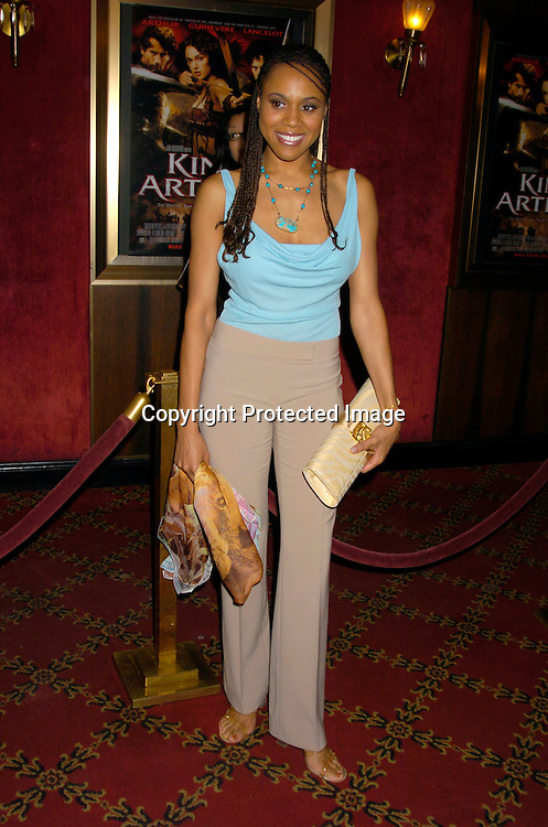 """Deborah Cox ..at the World Premiere of """"King Arthur"""" on June 28, 2004 at ..the Ziegfeld Theatre. ..Photo by Robin Platzer, Twin Images"""