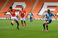 Nick Freeman of Wycombe Wanderers crosses the ball during the Sky Bet League 2 match between Blackpool and Wycombe Wanderers at Bloomfield Road, Blackpool, England on 20 August 2016. Photo by James Williamson / PRiME Media Images.