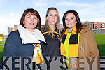 Eileen O'Carroll, Kerrie Beckett and Edel O'Carroll, cheering on Dr Crokes at the All Ireland semi-final held on Saturday in Portlaoise.