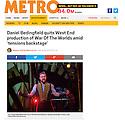 Daniel Bedingfield, War of the Worlds, Dominion, Metro, 22.04.16