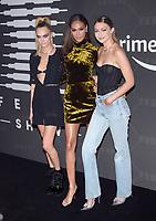 BROOKLYN, NY - SEPTEMBER 10: Cara Delevingne, Joan Smalls and Gigi Hadid at Rihanna's second annual Savage X Fenty Show at Barclay's Center in Brooklyn, New York City on September 10, 2019. Credit: John Palmer/MediaPunch
