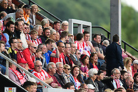 Lincoln City fans watch their team in action <br /> <br /> Photographer Chris Vaughan/CameraSport<br /> <br /> The EFL Sky Bet League Two - Lincoln City v Morecambe - Saturday August 12th 2017 - Sincil Bank - Lincoln<br /> <br /> World Copyright &copy; 2017 CameraSport. All rights reserved. 43 Linden Ave. Countesthorpe. Leicester. England. LE8 5PG - Tel: +44 (0) 116 277 4147 - admin@camerasport.com - www.camerasport.com