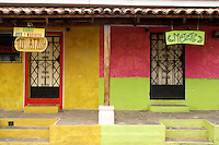 Colourful Spanish colonial buildiings in the village of Ataco in western El Salvador