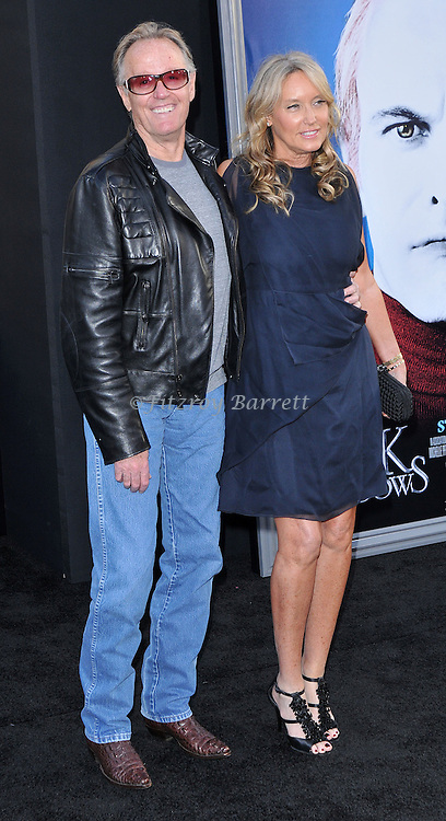 Peter Fonda and wife Parky Fonda at the Los Angeles premiere of Dark Shadows held at Grauman's Chinese Hollywood, California. May 7,  2012